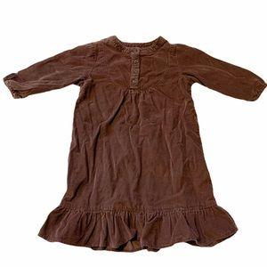 Old Navy Girls Brown Corduroy Dress 4T